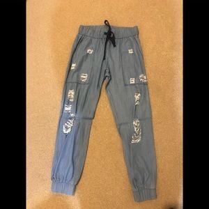 Pants - Denim pants with rips S